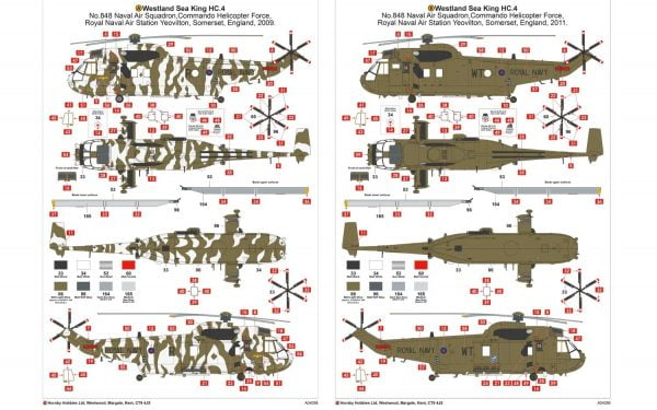 Markings Airfix Westland Sea King HC.4 1:72 Scale A04056