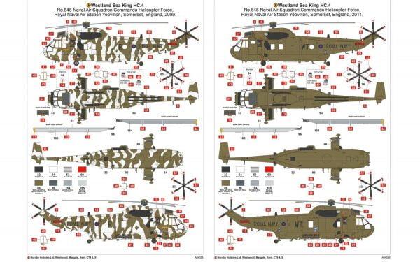 Markings Airfix Westland Sea King HC.4 1:72 Scale A04056