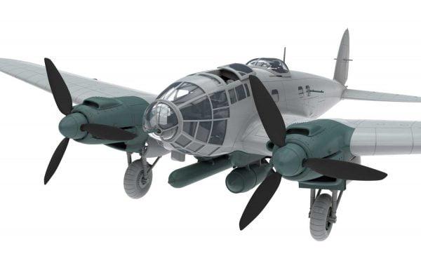 Bare 2 Airfix Heinkel He III H-6 1:72 Scale A07007