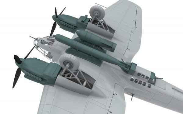 Bare 4 Airfix Heinkel He III H-6 1:72 Scale A07007