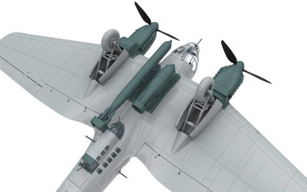 Bare 5 Airfix Heinkel He III H-6 1:72 Scale A07007