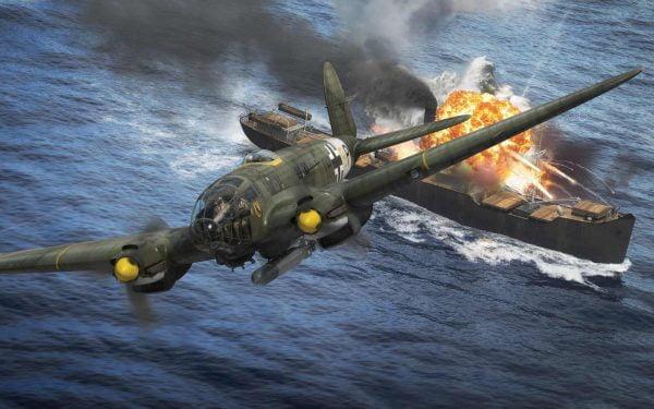 in Flight Airfix Heinkel He III H-6 1:72 Scale A07007