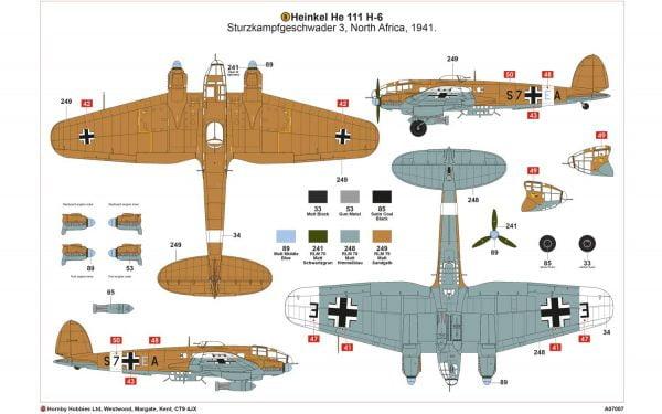 Layout 2 Airfix Heinkel He III H-6 1:72 Scale A07007