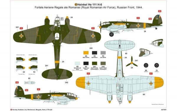 Layout 3 Airfix Heinkel He III H-6 1:72 Scale A07007