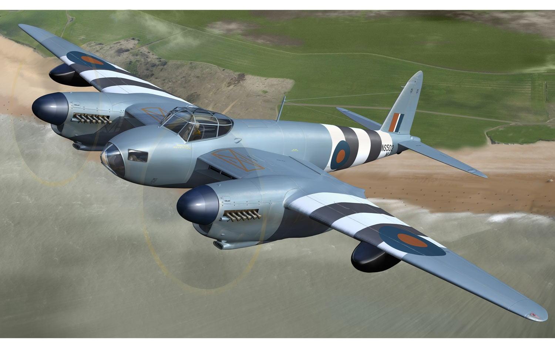 In Flight Airfix De Havilland Mosquito PRXVI 1:48 Scale A07112