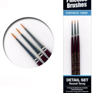 Vallejo Round Toray Brush Set 4-0 3-0 2-0 54998