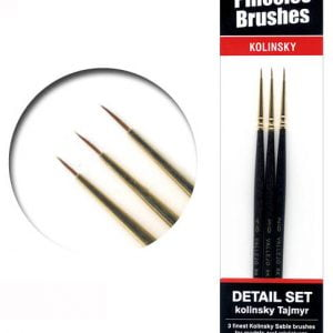 Vallejo Finest Tajmyr Kolinsky Detail Sable Brush Set 4-0 3-0 2-0 25999