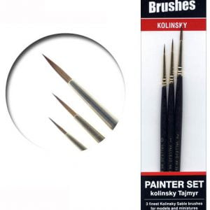 Vallejo Painters Brush Set Tajmyr Kolinsky Sable 0 1 2 25998