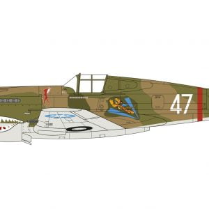 Layout C Curtiss P-40B Warhawk 1:48 Scale A05130