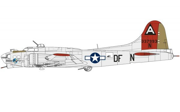 Layout Boeing B-17G Flying Fortress 1:72 A08017