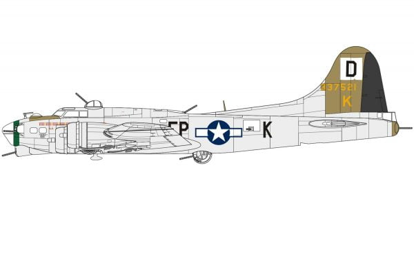 Layout C Boeing B-17G Flying Fortress 1:72 A08017