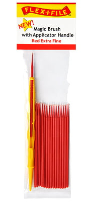 Magic Brushes Red Extra Fine with Applicator Handle by Alpha Abrasives ALB M9290