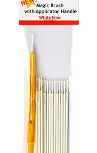 Magic Brushes White Fine with Applicator Handle by Alpha Abrasives ALB M930001