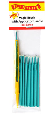 Magic Brushes Teal Large with Applicator Handle by Alpha Abrasives ALB M930004