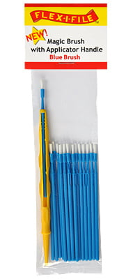 Magic Brushes Blue Brush with Applicator Handle by Alpha Abrasives ALB M933001
