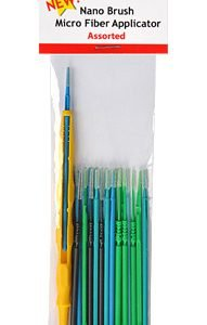 Nano Brushes Assorted with Micro Fiber Applicator by Alpha Abrasives ALB NB06
