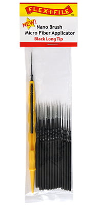 Nano Brushes Black Long Tip with Micro Fiber Applicator by Alpha Abrasives ALB N
