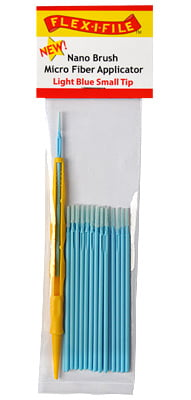 Nano Brushes Light Blue Small Tip with Micro Fiber Applicator by Alpha Abrasives
