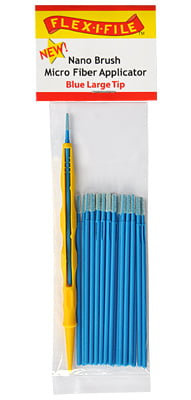 Nano Brushes Blue Large Tip with Micro Fiber Applicator by Alpha Abrasives ALB N