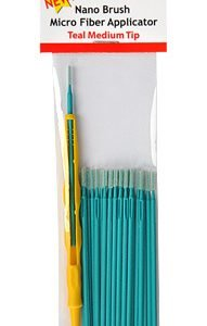Nano Brushes Teal Medium Tip with Micro Fiber Applicator by Alpha Abrasives ALB