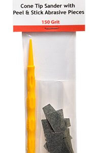 Cone Tip Sanders with Peel and Stick Abrasive Pieces 150 Grit by Alpha Abrasives
