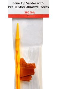 Cone Tip Sanders with Peel and Stick Abrasive Pieces 280 Grit by Alpha Abrasives