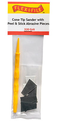 Cone Tip Sanders with Peel and Stick Abrasive Pieces 320 Grit by Alpha Abrasives