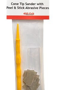 Cone Tip Sanders with Peel and Stick Abrasive Pieces 400 Grit by Alpha Abrasives