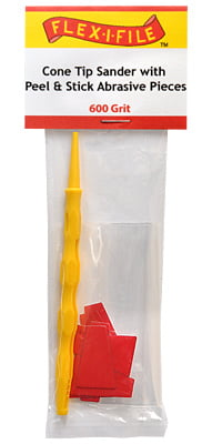 Cone Tip Sanders with Peel and Stick Abrasive Pieces 600 Grit by Alpha Abrasives
