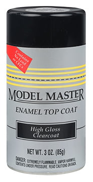 Model Master Spray Paint Clear Top Coat 2936