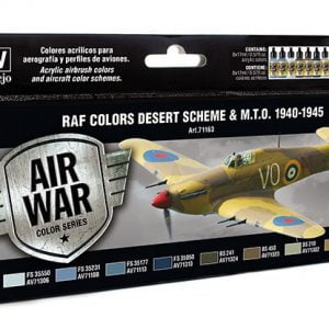 Vallejo RAF Colors Desert Scheme Paint Set 71163