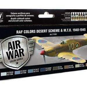 Vallejo RAF Colors Desert Scheme Paint Set 71163