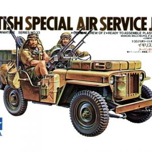Box British SAS Jeep Kit - CA133 by Tamiya 35033