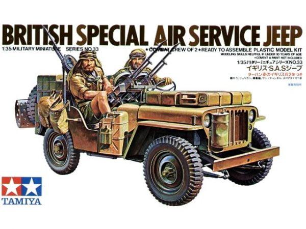 Box British SAS Jeep Kit - CA133 by Tamiya 35033