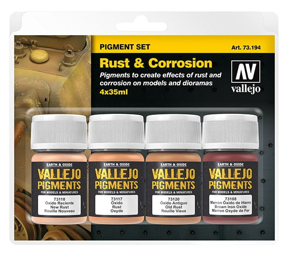 Vallejo Rust and Corrosion Pigment Set 73194