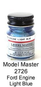 Model Master Car and Truck Enamel Paint Ford Engine Light Blue 2726