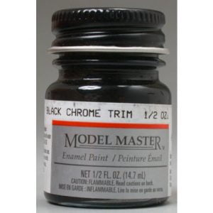 Model Master Car and Truck Enamel Paint Black Chrome Trim 273515