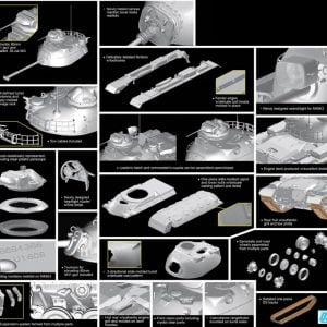 Parts T54E1 Smart Kit Black Label Series Model Kit by Dragon 3560