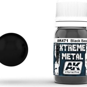 Xtreme Metal Paint Black Base AK Interactive AKI 471