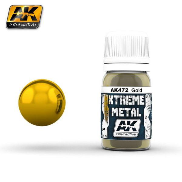 Xtreme Metal Gold Paint AK Interactive AKI 472