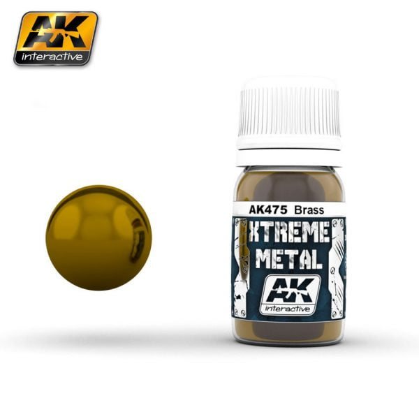 Xtreme Metal Brass Paint AK Interactive AKI 475