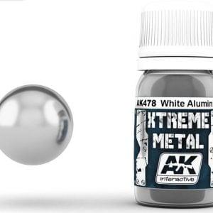 Xtreme Metal White Aluminium Paint AK Interactive AKI 478