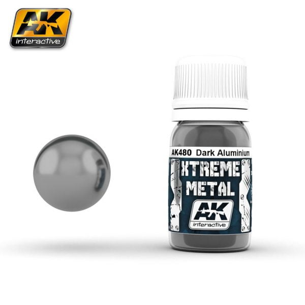 Xtreme Metal Dark Aluminium Paint AK Interactive AKI 480