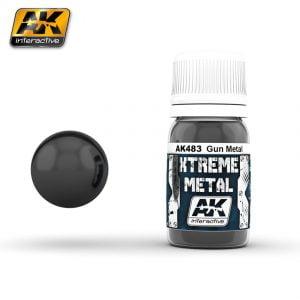 Xtreme Metal Gun Metal Paint AK Interactive AKI 483
