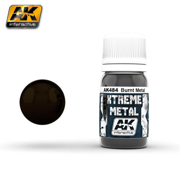 Xtreme Metal Burnt Metal Paint AK Interactive AKI 484