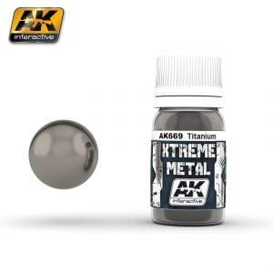 Xtreme Metal Titanium Paint AK Interactive AKI 669