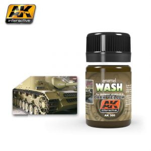 Dark Yellow Wash by AK Interactive AKI 300