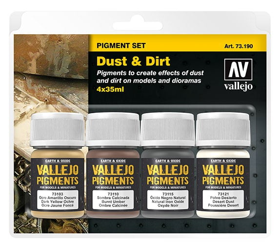 Vallejo Dust and Dirt Pigment Set 73190