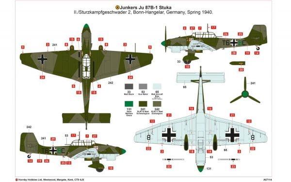Junkers Ju87B-1 Stuka by Airfix A07114