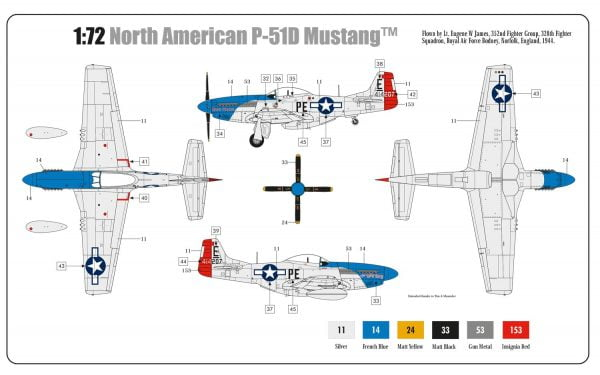 North American P-51D Mustang by Airfix A01004A
